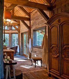 Rustic Bathrooms, Gazebo, Hardwood, Cozy, Outdoor Structures, Cabin, Windows, Bathroom Ideas, Antique