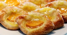 Buttery, flaky pastry, sweet, creamy custard, and tart apricots.