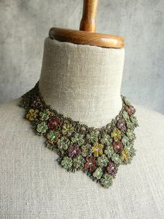 Only the top tier of the l'orina team manages this level of skill. gorgeous modified bib type necklace, lays flat against. the skin. a slight relief is. - The French Needle Tatting Necklace, Tatting Jewelry, Diy Jewelry, Jewelery, Crochet Necklace, Handmade Jewelry, Gold Jewellery, Hand Tats, Marcasite Jewelry