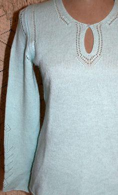 Light Blue Cashmere Sweater Soft Long Sleeve Sweater Light Weight ...