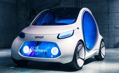 The 2017 Tokyo Motor Show displayed a plethora of futuristic-fuelled concepts, with Mercedes-Benz's Concept EQA and Smart Vision EQ ForTwo leading the way Smart Auto, Smart Car, Futuristic Technology, Futuristic Cars, Small Electric Cars, Electric Vehicle, Mercedes Benz, Tokyo Motor Show, Benz S