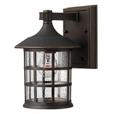 Freeport Oil Rubbed Bronze One-Light Small Outdoor Wall Light