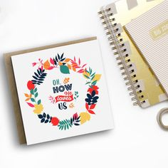 Oh How He Loves Us Card - Christian Cards - Christian Gifts - Modern Luxury Cards