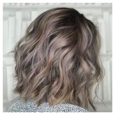 highlighted charcoal hair color