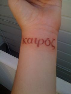 """Kairos (greek word)- """"The appointed time in the purpose of God"""""""