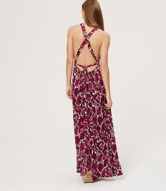 Thumbnail Image of Color Swatch 5596 Image of LOFT Beach Tropic Strappy Back Maxi Dress