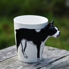 Hand Painted 3D Animal Mug ($30) ❤ liked on Polyvore featuring home, kitchen & dining, drinkware, cat mug, dog mug, animal mugs and kitty mug