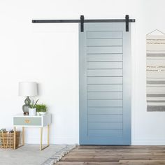 The Horizontal Panel Door adds a modern craftsman touch to a traditionally rustic barn door design. Perfect for any remodel, new build, or addition.