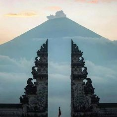 The Amazing entrance of Lempuyang sacred mother Temple with incridible scenery view!    Lempuyang temple, Bali   josiahwg