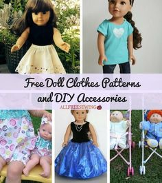 35 Free Doll Clothes Patterns and DIY Accessories | Your little princess will love these DIY doll patterns!