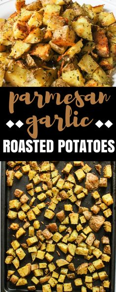 EASY Parmesan Garlic Roasted Potatoes via @Ally\\\'s Cooking