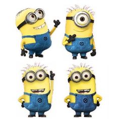 Despicable Me Themed Nursery - Wall Decals. I'd still try to paint these instead of spending $255 on them.