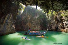 Secret lagoon in Phang Nga Bay with Paddle Asia.