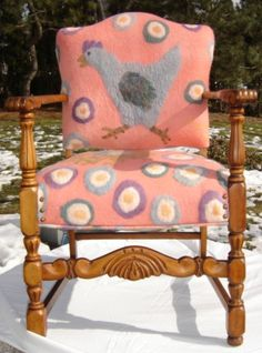 chicken felted chair | Flickr - Photo Sharing!