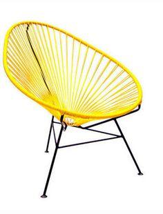 Decomex - Fauteuil de jardin-Decomex-Acapulco chair jaune