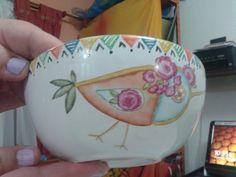 Bol para tacos, pintura en porcelana