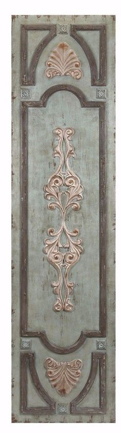 Distressed French Country Wood Door Panel Wall Art