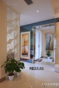 Latest contemporary style door porch decoration effect picture 2016