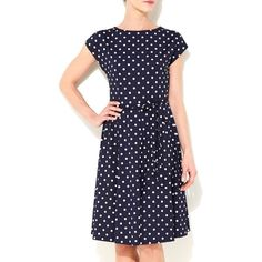 Navy blue polka dot dress