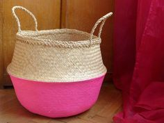 use our accent colour sparingly on baskets, chair legs etc