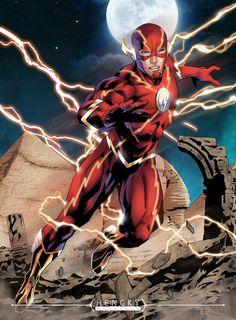 ArtStation - The Flash, Hengky Irawan Flash Comics, Dc Comics Heroes, Arte Dc Comics, Dc Comics Characters, Batman Comics, Marvel Comic Universe, Dc Universe, Flash Tv Series, Flash Wallpaper