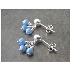 Women's Earrings Sleeping Beauty Turquoise Earrings Sterling Silver... (€28) ❤ liked on Polyvore featuring jewelry, earrings, earring jewelry, sterling silver jewelry, post back earrings, turquoise jewelry and holiday earrings