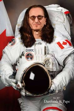 """POSTER RUSH """"GeddyLee Dressed as Astronaut"""" posters Rush"""