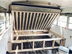 caravan house Could you use this as a safe space Space to hide valuables Tiny House Movement // Tiny Living // Skoolie Conversion // Skoolie //