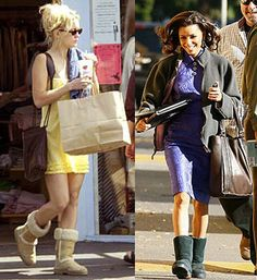 Uggs with dress or skirt