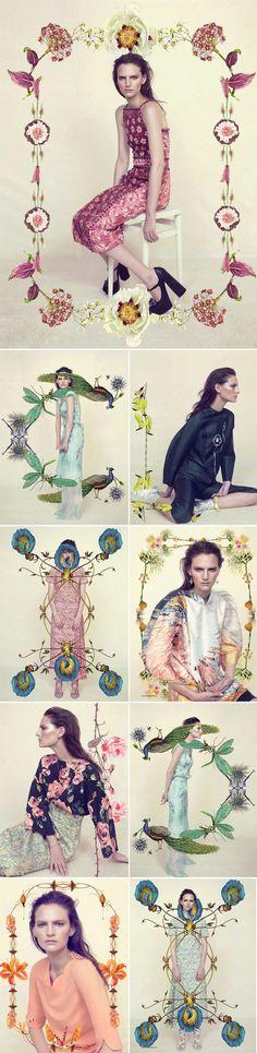 Achados da Bia   Editorial   Floral   Primavera   Harpers Bazaar UK