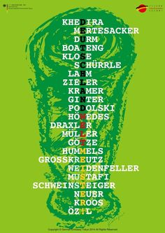 """The complete 23 names of 2014 Die Nationalmannschaft to be spelled """"Deutchland Weltmeister"""""""
