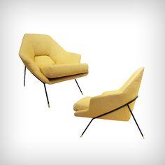 Paire de fauteuils, Augusto Bozzi (1954)