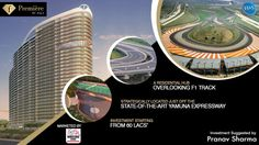 Overlooking the Track, F-Premier is a 2 & 3 BHK luxurious residences project on Yamuna Expressway. Investment starts at 60 Lacs. Call at 9250401940 for more information. Real Estate Development, Investing, Track, Luxury, Runway, Track And Field