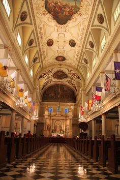 The Interior Of St Louis Cathedral New Orleans LA