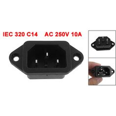 PROMOTION! IEC 320 C14 Male Plug 3 Pins PCB Panel Power Inlet Socket Connector #Affiliate