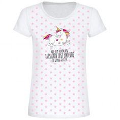 Einhorn T-Shirt- total im Trend- modisch- für Mädchen und Frauen- ob zum Geburtstag, Einschulung oder Weihnachten- mit trendigen, rosa Sternen- super Motiv- Einhörner Fans aufgepasst