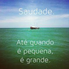 #autoajudadodia por @Flavinha Hortelã! E não é que é verdade? Força para todo mundo que estiver sofrendo de saudade.