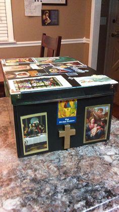 Homeschooling Papist: Do it yourself Sacrament keepsake box for Catholic Sacraments