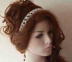 Bridal Hair Accessories Rhinestone Wed ding Headband by ADbrdal https://www.etsy.com/listing/156722721/bridal-pearl-headband-lace-ivory-pearl?ref=shop_home_active_18