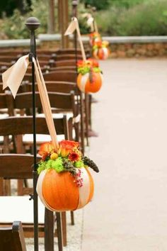 idée de décoration de salle de mariage d'automne