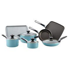 Farberware High Performance 17 Piece Aluminum Nonstick Cookware Set