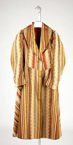 Smoking jacket Date: ca. 1837 Culture: European Medium: wool, flax Accession Number: 1982.29.3
