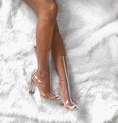 Transparent Shoes/Heels | Pinterest: callistacvs (for more inspirations! Hair…