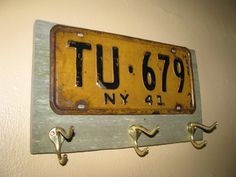 Vintage coat rack made with a real vintage by ThePlateFactory, $49.00