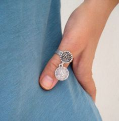 Hey, I found this really awesome Etsy listing at https://www.etsy.com/listing/206657499/thumb-ring-coinethnic-band-ring-dangling