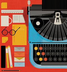 Underwood by Mike Lemanski (Charley Harper visits the office. Fun!)