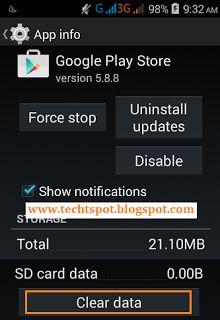 Fix Google Play Store Error 923 - 3