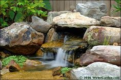 garden ponds and waterfalls | Photos of waterfalls made with our waterfall tanks