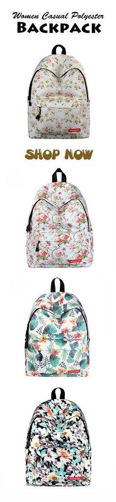 Women Casual Polyester Backpack Starry Sky Travel School Bag #schoolbags #girlsbackpack #schooloutfits #casualbags #travelbackpack #travelbags