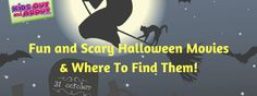 We've compiled a huge list of fun and/or scary movies to watch with your kids this Halloween AND where to find them! Some you can stream for free on Netflix or Amazon Prime and others you can rent or purchase on Amazon (the listing will say Amazon (r) if it's not free). All of the movies are rated either G, PG, or PG-13. Use your discretion. If the movie doesn't have a listed rating it's because it either was originally made for tv or went straight to video.